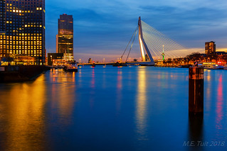 Erasmus bridge @ twilight