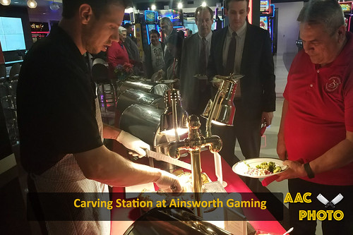 """Carving Station at Ainsworth Gaming • <a style=""""font-size:0.8em;"""" href=""""http://www.flickr.com/photos/159796538@N03/28004814368/"""" target=""""_blank"""">View on Flickr</a>"""