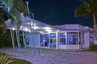 Vagabond Hotel,  7301 Biscayne Blvd, Miami, Florida, USA / Built: 1953 / Architect: Robert Swartburg / Floors: 2 / Adjusted Area 25,486 Sq.Ft / Architectural Style: Miami Modern (MiMo)
