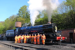 Tribute to Paul Noons at the Severn Valley Railway (Keith Wilko) Tags: severnvalleyrailway svr sevenvalleyrailway severnvalley kingedward11 kingedwardll kingclass gwrking gwrkingclass kingclasslocomotive blueking king gwr gwrlocomotives 6023 loco6023 6023loco steamlocomotives locos