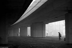 Poniedziałkowy poranek / Monday morning - Chorzów 2016 (Tomek Szczyrba) Tags: poranek mgła morning miasto city fog chorzów polska poland bw monochrome noir street streetphoto ludzie people photo