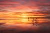 Bisilhouette... (Grégory Dolivet) Tags: sea seascape sky sunset sun soleil reflection reflet redsky silhouette coucherdesoleil cloud vélo landscape