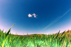 bianco abbraccio (f4b1u5) Tags: landscapephotography naturelovers grassfield bluesky clouds valley countryside countryscape grass hills