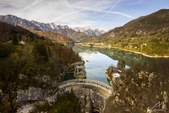 Lago di Barcis (Andrea Moraschetti Photography) Tags: ngc italy italian places landscape lake barcis dam autumn fall foliage travel vacation water wood woods mountains mountain dolomiti dolomites tree trees nature natura natural color colors