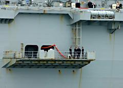 L2018_0685 - HMS OCEAN - Dodging Her Majesty? (www.jhluxton.com - John H. Luxton Photography) Tags: royalnavy ship devon devonport hmdockyarddevonport uk england rivertamar warship leica l12 hmsocean helicoptercarrier landingplatformhelicopter aircraftcarrier wwwjhluxtoncom johnhluxtonphotography leicavlux3 sailors
