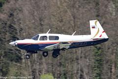 D-ECLC - 1988 build Mooney M.20K Model 252TSE, inbound to Runway 24 at Friedrichshafen during Aero 2017 (egcc) Tags: 251182 aero aerofriedrichshafen aerofriedrichshafen2017 bodensee declc edny fdh friedrichshafen lightroom m20k model252tse mooney