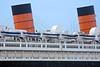 Two Stacks (AntyDiluvian) Tags: california ca losangeles la longbeach catalinaisland catamaran catalinaexpress queenmary oceanliner passengership hotel stacks smokestacks