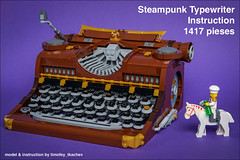 Now with instruction! ;) (timofey_tkachev) Tags: moc steampunk typewriter afol instruction