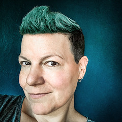 New phone who dis (Melissa Maples) Tags: antalya turkey türkiye asia 土耳其 apple iphone iphonex cameraphone square 11 instagram me melissa maples selfportrait woman brunette shorthair greenhair blue green cyan teal