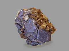 Galena with Siderite (Ron Wolf) Tags: earthscience galena geology mineralogy siderite crystal hexagonal isometric mineral nature ore rhombohedral germany