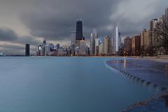 Dreamy Skyline (player_pleasure) Tags: chicago chicagoist skyline longexposure lakemichigan hdr