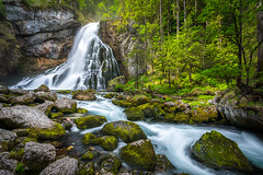 Gollinger Wasserfall (Golling Waterfall) in Austria (Aljaž Vidmar | ADesign Studio) Tags: wood moss landscape österreich peaceful nature austria stream rocks trees waterfall river forest leaves wasserfall golling green longexposure europe gollinger water