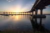 Coronado Bridge At Sunrise (scottdavenportphoto) Tags: bridge california coronado coronadobridge harbor northamerica outdoor silhouette structure sunrise unitedstates us
