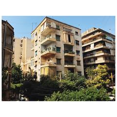 Glimpse of a Beirut neighborhood #travel #lebanon #urban #architecture #vscox (ahh.photo) Tags: beirut building architecture balcony condo lebanon neighborhood old cityscape