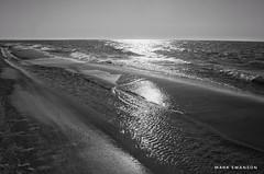 Shimmering (mswan777) Tags: beach shore coast scenic wave water sand seascape lake michigan light horizon ansel monochrome black white nikon d5100 nikkor 1855mm outdoor nature