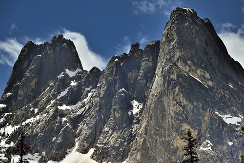 Peaks and Spires of Liberty Bell Mountain and Early Winter Spire