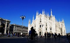 One Of The Largest Churches In The World (kaprysnamorela) Tags: cathedral duomo milan square center city oldcity italy people sky vittorioemanuelii gallery lamps silhouette daylight outside church gothic