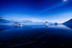 Berninapass, Oberengadin, Graubünden, Schweiz (graubuenden.bilder) Tags: berninapass kantongrgraubã¼ndengraubuendengrisonbã¼ndnerland rhã¤tischebahnrhbbahn schweizsuisseswitzerlandsvizzra bezirkmaloja verkehr ãffentlicherverkehrãv tourismustourism ausflugsortausflug holidayferientourismevacance reisen tourismusort scenic dynamikdynamisch lichtspurenleuchtspurenlichtstreifenleuchtstreifenlangzeitbelichtung eisenbahnrailwayrailwaystrainchemindefer berninalinie ospizioberninaospiziostationospiziobernina naturnature lichtstimmungen abenddã¤mmerung abendhimmel abendstimmung stimmung nachthimmelnacht sternesternenhimmel landschaftlandscape alpenalpinealps bergbergemountainmountainsmontagnemontagnes winter winterlandschaft winterkleid schnee gewã¤sser see spiegelungseespiegel reflexion lagobianco eis eisdecke eisschicht schwarzeis zugefroren gefroren bernina engadinoberengadin stromenergieenergy hochspannunghochspannungsleitungstromleitungleitungãberlandleitung pizcampasc pizdalteo pizsenavettasperella valdalbã¼gliet oberengadinerberge eindunkeln dã¤mmerung blauestunde winterabend winternacht