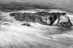 Off Shore Rocks_B&W_6121 (www.karltonhuberphotography.com) Tags: 2015 bw blackandwhite californiacoast horizontalimage karltonhuber lagunabeach longexposure motion offshorerocks pacificocean seascape silkywater southerncalifornia water