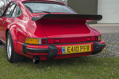 911 Rear Quarter (syf22) Tags: car vehicle automobile auto autocar automotor motor motorcar motorised sportcar transport carriage germanmade madeingermany porsche porscheclubgb porscheclubgbregion2 flatsix flat6 6cylinders red guardsred arse ass tail rear rearend back backend bottom 911 classic aircooled carrera wheel scotland gtm grampiantransportmuseum alford aberdeenshire
