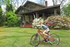 bikehseca (FAIRFIELDFAMILY) Tags: arts crafts bungalow craftsman architecture porch sunglasses sky azaleas solo star wars movie poster bike bicycle riding stone granite flowers yard winnsboro sc south carolina fairfield county cool pretty house home face portrait backyard pecan tree child boy young old jason taylor carson grant