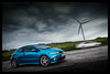 Honda Civic Type S (ianrwmccracken) Tags: civic honda topgear automotive automobile blue vehicle fife scotland nikon d750 2470mm f28 wind turbine blur speed ian mccracken cloud sky drama
