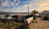 (202/18) Camino a Fornells (Pablo Arias) Tags: pabloarias photoshop photomatix capturenxd españa cielo nubes arquitectura hierba mar agua mediterráneo bote barca fornells menorca