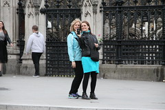 People watching in London (Ian Press Photography) Tags: people london england parliament square tourist tourists selfie big ben
