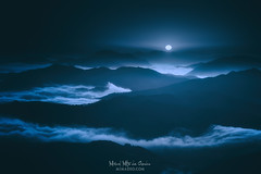 Land of darkness (Mimadeo) Tags: dark night fullmoon moon moonlight mountain fog scary mystery darkness scenic landscape wilderness mist misty monochrome blue shadow black spooky mood moody atmosphere atmospheric evening fear mysterious gloomy gothic foggy cold valley dramatic midnight toned