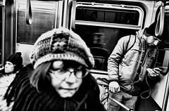 Train 66 (draketoulouse) Tags: chicago loop redline cta train people subway city bw monochrome blackandwhite street streetphotography contrast noise blur