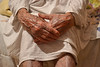 Old Age (Milica Simić) Tags: lady person female old cruel age granny people hands hand finger fingers arm legs vein veins hospital illness white hyperrealism naturalism crossed
