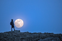 Moon watcher (A Crowe Photography) Tags: moon space night astrophotography fullmoon canon canon6d composite snowdonia snowdonianationalpark bbcskyatnight