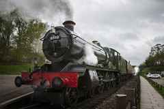Close up of 6990 at Rothley (RJT11) Tags: witherslack hall 460 railway central great station rothley 29 april sunday steam raining 28mm 1200 f8 iso320
