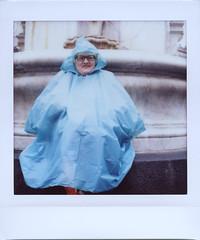 Noi Puffi siam così (Les Schtroumpfs/The Smurfs) (ale2000) Tags: instax instant lomoinstantwide instaxsquare fuji lomography lomoinstantsquare square analog analogue blue azzurro happypeople people happy smile smiling sorriso streetphotography impermeabile woman donna sorridente hood cappuccio raincoat fujifilminstaxsquare lomoinstant
