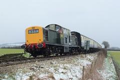 A Clayton In The Snow (crashcalloway) Tags: class17 clayton d8568 diesel locomotive horsendencrossing chinnorandprincesrisboroughrailway princesrisborough snow snowfall