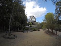 Nino vN4 _orig_LG (Hazbones) Tags: iwakuni yamaguchi yokoyama castle kikkawa suo chugoku mori honmaru ninomaru demaru wall armor samurai spear teppo gun matchlock map ropeway