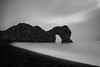 Durdle Door (Derek Robison) Tags: uk dorset minimal seascape landscape longexposure sea shoreline blackandwhite monochrome minimalism