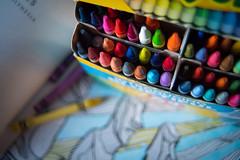 color theory (117/365) (severalsnakes) Tags: a3510535 crayola kansas kansascity pentax saraspaedy adult ancientaliens book color coloringbook crayon easterisland k1 manual manualfocus moai statue zoom