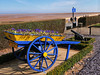 Blue cart at the beach (Mallybee) Tags: lincolnshire cleethorpes panasonic dcg9 cannon sea mallybee lumix1235mmf28 blue cart beach dmcg9 g9 lumix