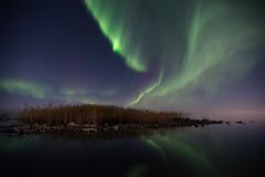 Autumn night (Björn Knif) Tags: autumn night northern lights aurora islet sky stars reflection replot raippaluoto suomi finland