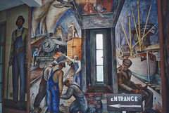 San Francisco  - California  - Coit Tower - Murals Inside (Onasill ~ Bill Badzo - 54M View - Thank You) Tags: frescoes art public wpa hitchcock lillie 360 view bridge goldengate elevator beacon visitors 1933 emblem inside murals landmark nrhp site attraction historic sf onasill park recreation telegraphhill county california ca sanfrancisco people monument tree road vintage old photo