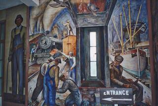 San Francisco  - California  - Coit Tower - Murals Inside