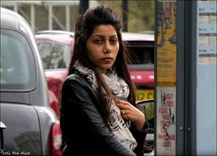 `2219 (roll the dice) Tags: london streetphotography sad mad fun funny reaction pretty sexy girl surreal people fashion england urban unaware unknown uk art classic happy grim traffic kiss portrait candid stranger tourism tourists dark 2014 canon asian indian taxi expensive natural busstop bored wind westend