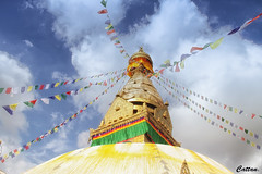 Swayambhunath Temple (cattan2011) Tags: temple pagoda traveltuesday travelphotography travelbloggers travel culture buddhism monastery landscapephotography landscape 尼泊尔 swayambhunathtemple nepal kathmandu