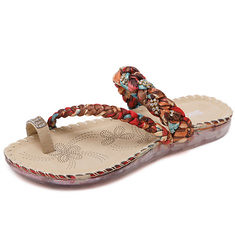 4f85b53741c9 US Size 5-10 Women Bohemian Casual Beach Soft Flat Sandals (1130765)