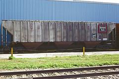 CB&Q Class LO-10 184715 (Chuck Zeiler) Tags: cbq class lo10 184715 burlington railroad covered hopper freight car perham train chz