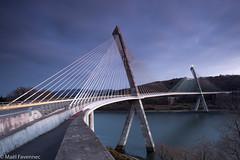 Pont de Térénez (maelfavennecphotos) Tags: bridge pont long exposure lights night architecture france bretagne ouvrage