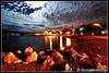 Luminous clouds... (Broukos) Tags: ελλάδα μαγνησία broukos greece magnesia heaven curve light night nightlight volos colour rock adventure landscape water baycurve sea floating blue cloud clouds