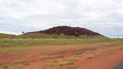 PILBARA ~ Marble Bar to Port Hedland (Jungle Jack Movements (ferroequinologist)) Tags: pilbara western australia australian landscape red rocks desert snakes bities digital camera old photo port hedland marble bar road outback iron clad hotel hot dry thunder out dated dating ancient wilderness country rural scrub bush tree dirt ore mining shipping jasper plain plains soil ground nothing see here ricoh kodak