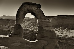 It's Good Seeing an Old Friend (Black & White, Arches National Park) (thor_mark ) Tags: 18m 60foot 60 antpeople archesnationalpark azimuth158 azimuth165 blackwhite blueskies butte canvas canyonlands capturenx2edited centralcanyonlands colorefexpro coloradoplateau day6 delicatearch delicatearchtrail desert desertlandscape desertmountainlandscape desertplantlife highdesert hiketodelicatearch intermountainwest lasalmountains landscape layersofrock lookingsse mountainpeaks mountains mountainsindistance mountainsoffindistance naturalarch naturalarches nature nikond800e outside portfolio project365 rockformations silverefexpro2 sunny utahhighdesert utahnationalparks2017 ut unitedstates